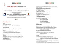 Programma SABATO 27
